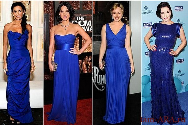 синее платье на Новый год