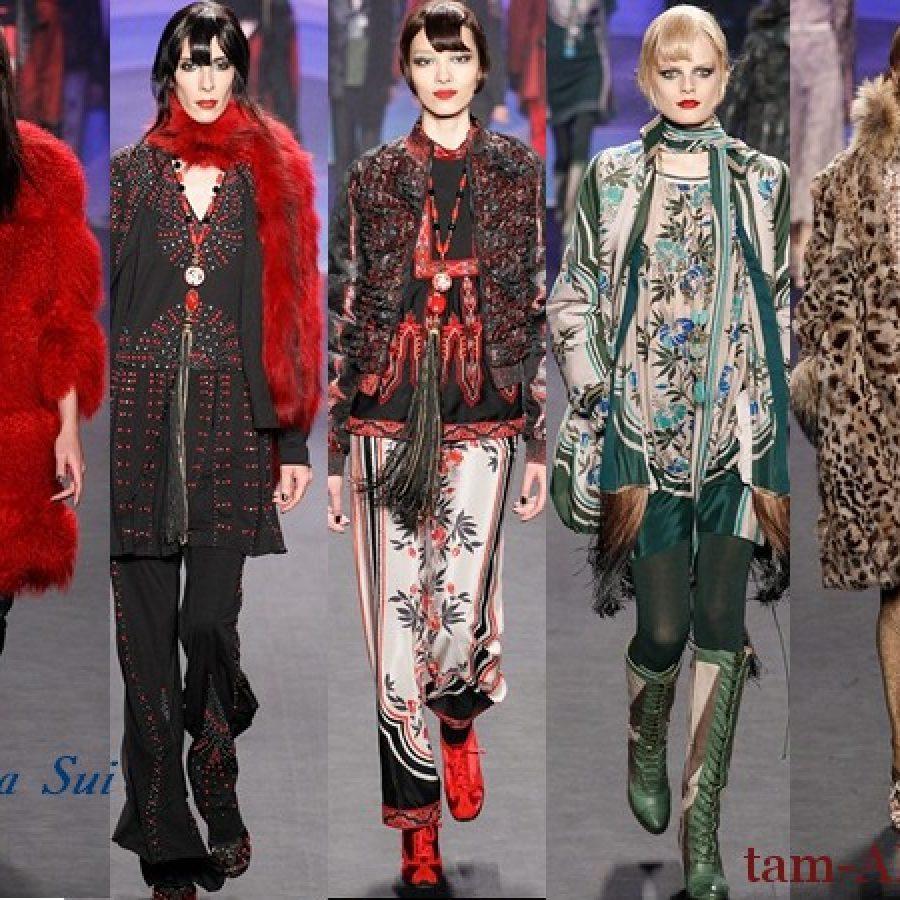 Дизайнер одежды Anna Sui осень-зима 2014-15