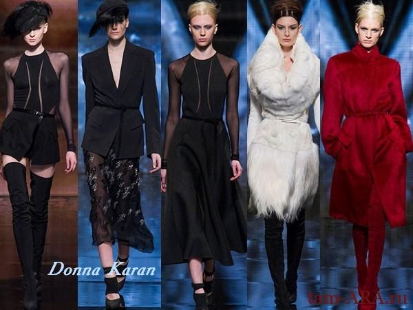 Donna Karan неделя моды в Нью-Йорке