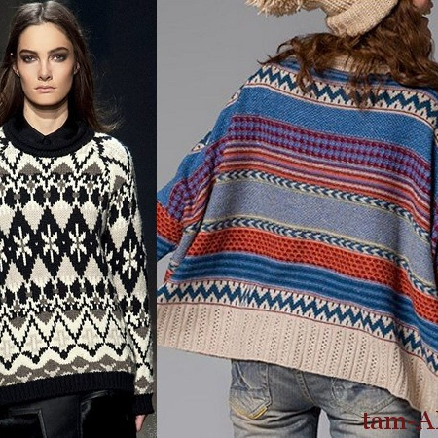 с чем носить широкий свитер
