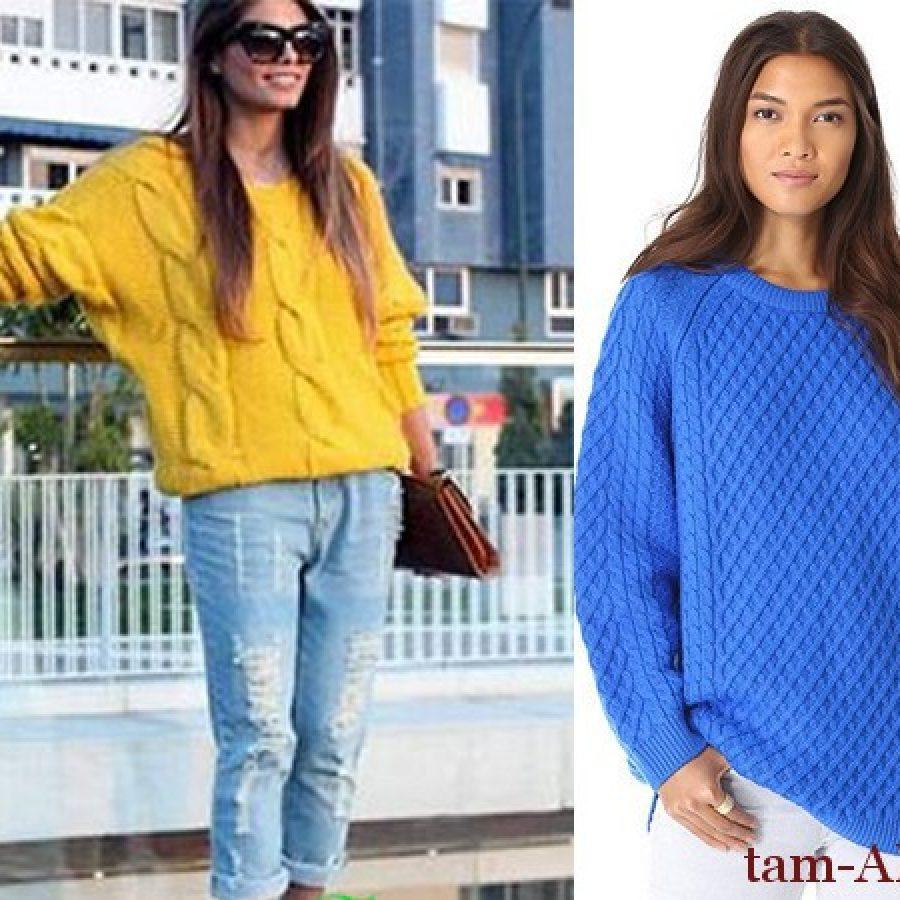 с чем носит свободный широкий свитер