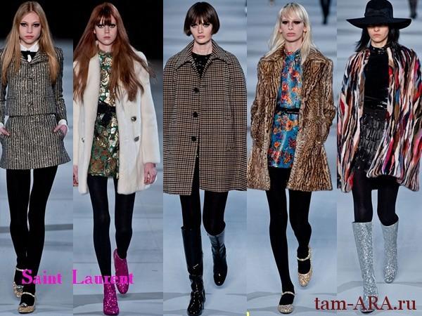 Saint Laurent Неделя Моды в Париже