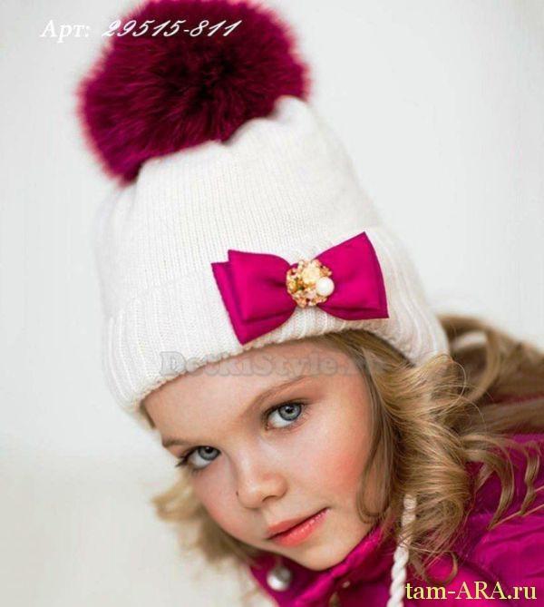 Зимняя шапочка для девочки убережет от мороза
