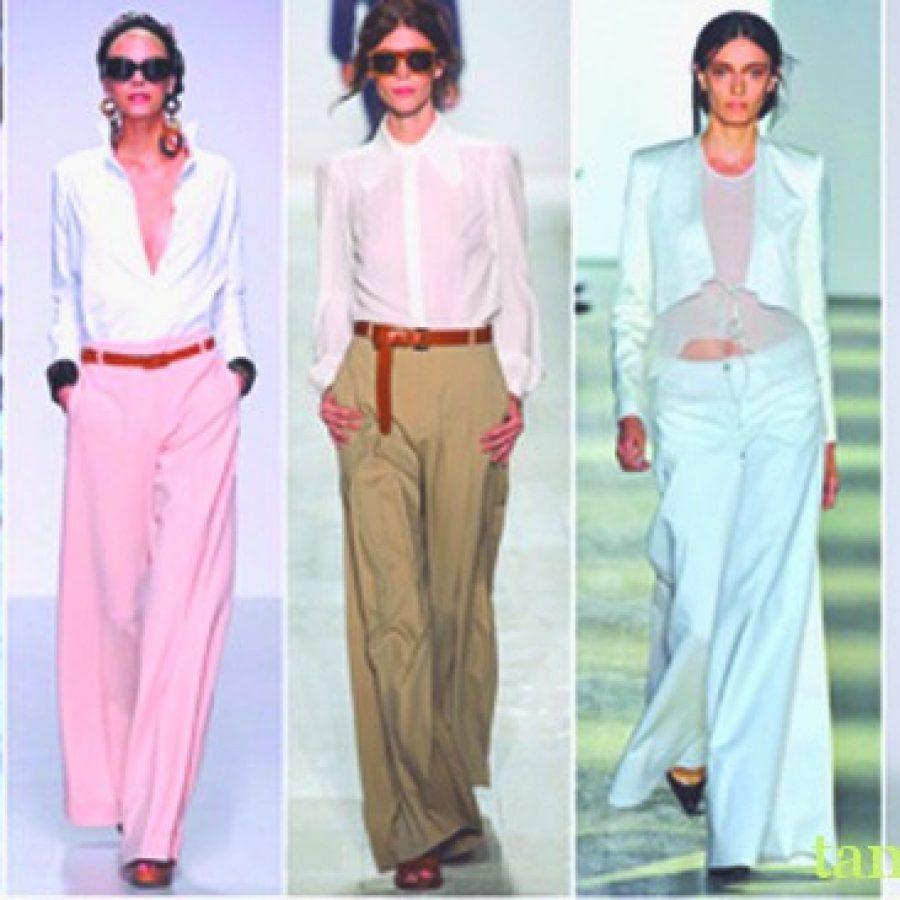 ретро мода расклешёные брюки