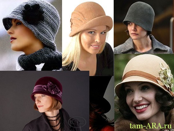 Мода на ретро шляпа с опущенными полями