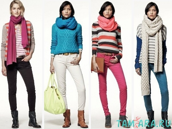 Как сочетать джинсы и свитер