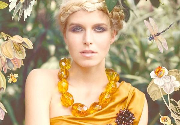 Модные янтарные украшения