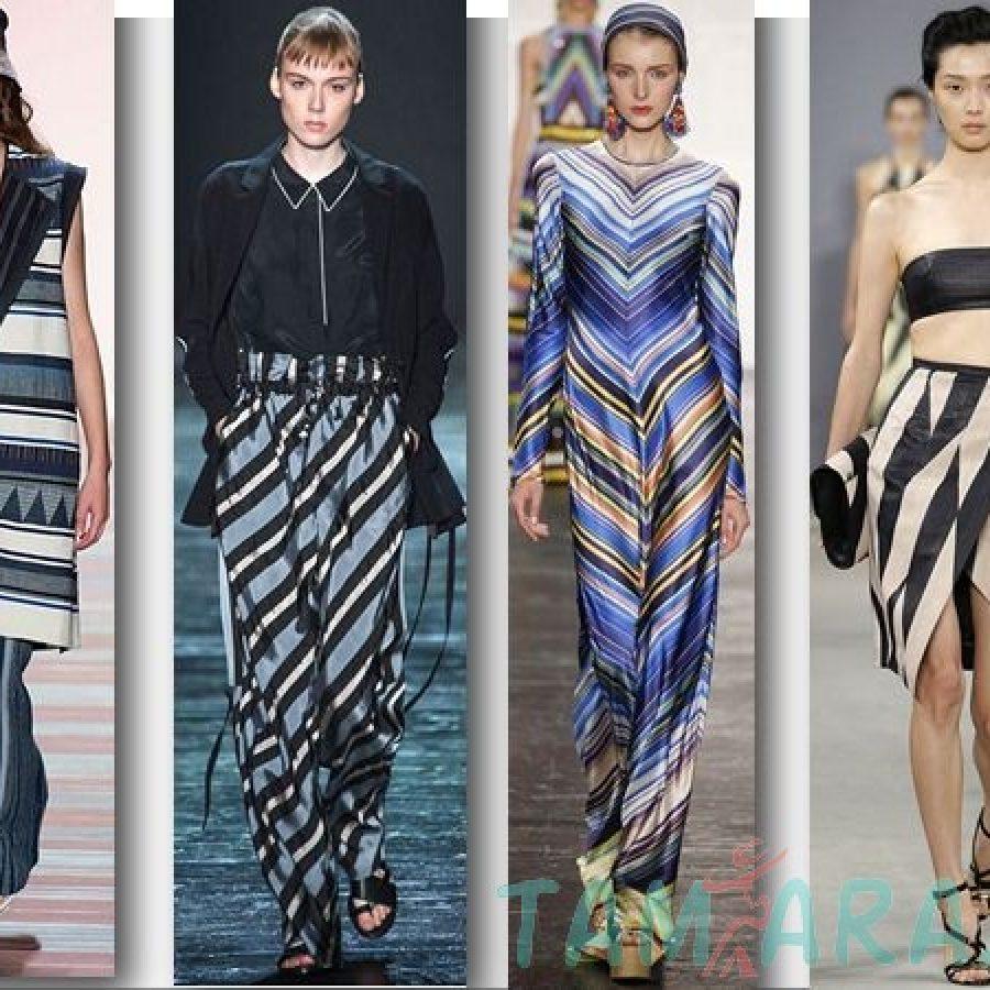 Неделя моды в Нью-Йорке весна-лето 2016 полоска