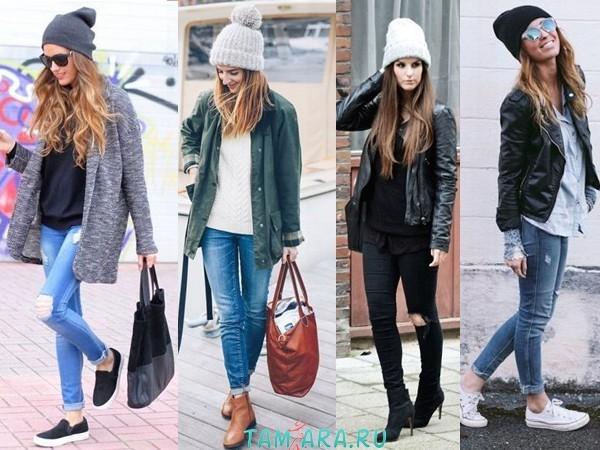с чем носить вязанные шапки осенью и зимой