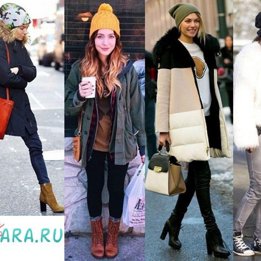 как комплектовать вязаную шапку с одеждой для осени и зимы