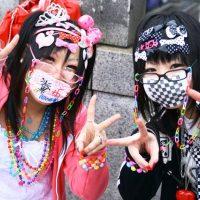 Стиль японской молодежи - фрутс, яманба - украшения на лице и одежде