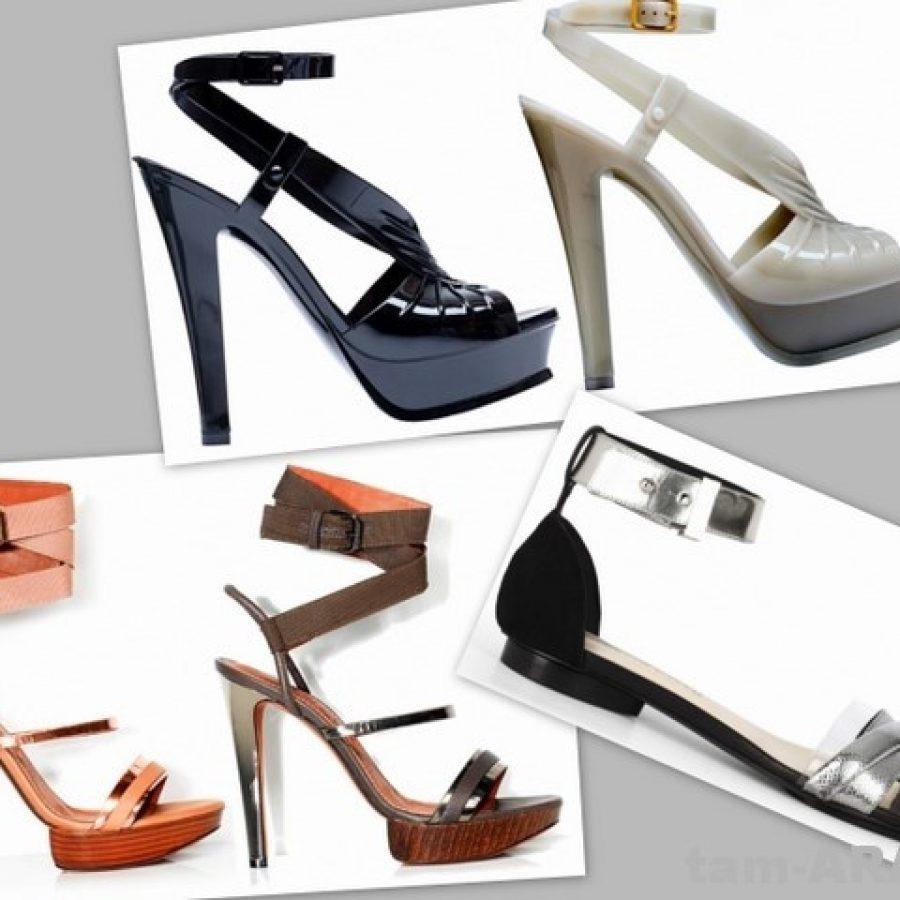 обувь дизайнеров Lanvin, Yves Saint Laurent, Burak Uya