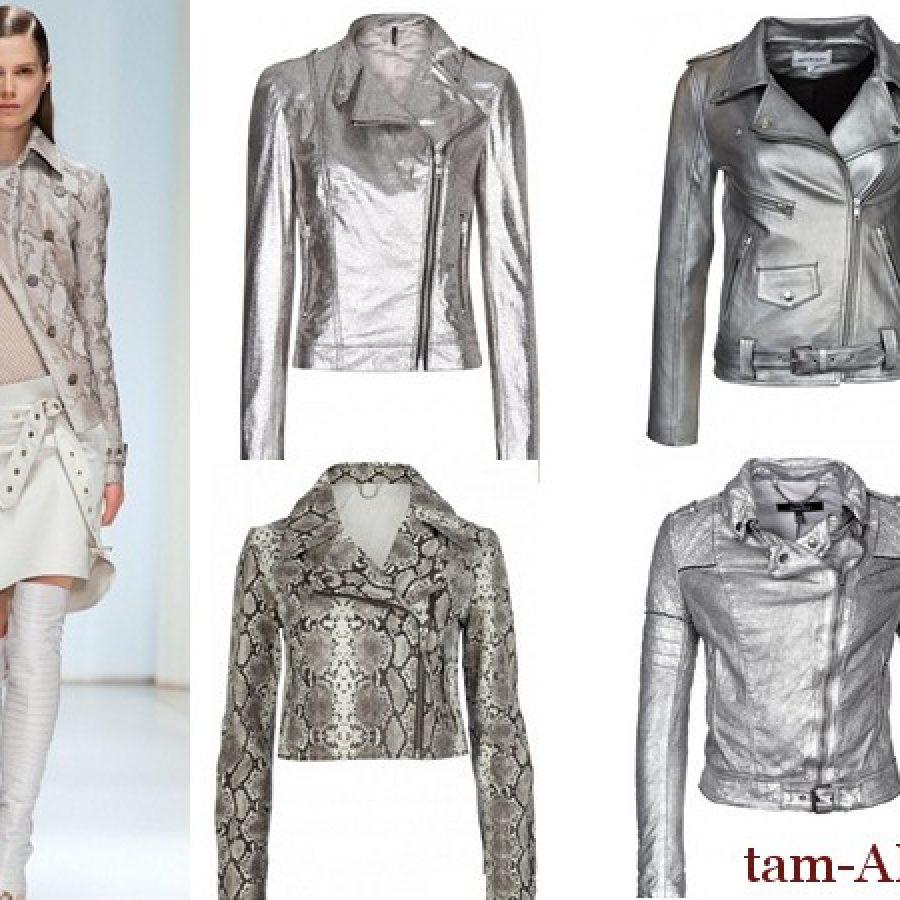 модные кожаные куртки весной 2013