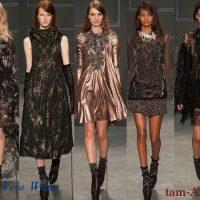 Vera Wang неделя моды в Нью-Йорке