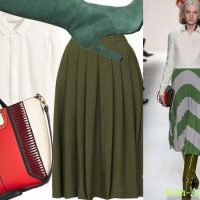 юбка миди в зеленых тонах