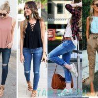 Весенние повседневные наряды для девушек